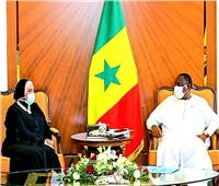 نيفين جامع تنقل رسالة من الرئيس السيسي لنظيره السنغالي
