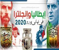 إنفوجراف | ايطاليا وانجلترا فى نهائى يورو 2020