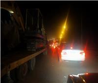 صور  تكدس السيارات بعد تحويل المسارات المرورية بالعجيزي في طنطا