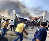 نشوب حريق في مصنع غزل ونسيج بالعاشر من رمضان   صور وفيديو