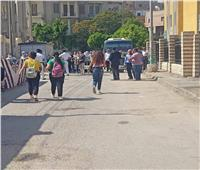انتشار قوات الأمن بمحيط مدارس الثانوية العامة بالمنيا