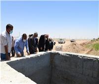 محافظ قنا يتفقد مشروع استكمال ري ١٢٥٠٠ فدان بقرية المراشدة