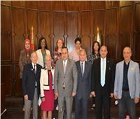 رئيس جامعة الإسكندرية يستقبل وفدين من جامعتي أوشن كونتي ونيوجيرسي الأمريكيتين