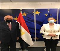 شكري يبحث مع «مفوضة أوروبا للشركات» سياسة الاتحاد التنموية تجاه مصر