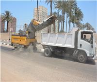 محافظ الدقهلية يتابع أعمال السيارات المكنسية لتنظيف الشوارع بالمنصورة