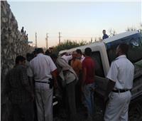 إصابة 16 عاملا في حادث انقلاب أتوبيس بالمنوفية