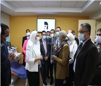 وزيرة الصحة تتفقد مركز تجميع البلازما بالعباسية| صور وفيديو