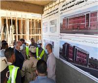 محافظ قنا يتفقد أعمال إنشاء مجمع الخدمات المتكاملة بقرية حجازة