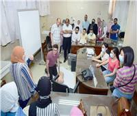 كلية التمريض و الصيدلة بسوهاج تنظم دورة تدريبية عن الإسعافات الاولية