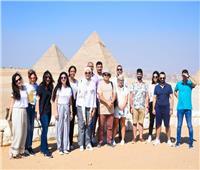 الهجرة تنظم زيارة للوفد الشبابي اليوناني لمنطقة الأهرامات ومتحف الحضارة
