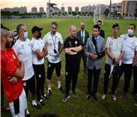 قبل السفر إلى طوكيو .. وزير الرياضة يشهد تدريب المنتخب الأولمبي