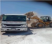 رفع 48 طنا من الأتربة والمخلفات الصلبة فى حملة نظافة بقرى ومدينة إسنا