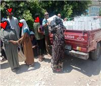 توزيع مساعدات مالية وعينية على 100 أسرة بقطور في الغربية