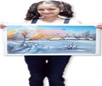 لوحة شرف شهد المهدى.. أصغر فنانة تشكيلية
