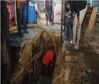 إصلاح خط مياه الشرب بمدينة ديرب نجم في الشرقية