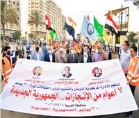 محافظ الغربية يشهد مسيرة شبابية للاحتفال بثورة 30 يونيو