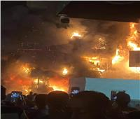 فصل الغاز والكهرباء في محيط عقار الطالبية المحترق