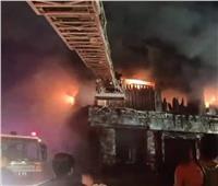 حريق الطالبية إلتهم سوبر ماركت ومعرض سجاد ومحل ملابس