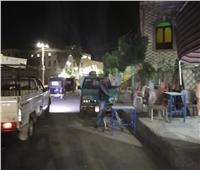 حملة إشغالات ليلية في منشأة القناطر بالجيزة  صور