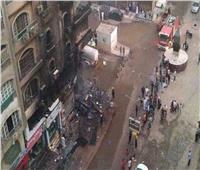 20 صورة ترصد حريق عقار الطالبية من البداية للنهاية