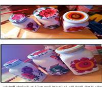 ورش فنية للمبتدئين في «فن الديكوباج» بتربية حلوان