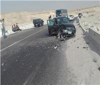 إصابة 5 أشخاص في تصادم سيارة بطريق العلمين