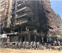 انتداب المعمل الجنائي لمعاينة آثار حريق عقار الطالبية