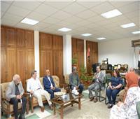 جامعة أسيوط تستقبل لجنة تحكيم مشروعات تخرج طلاب قسم النحت