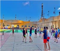 استقبال الأفواجبالمعسكر الصيفي الدائم لجامعة طنطا في مصيف بلطيم