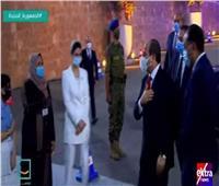 لحظة وصول الرئيس السيسي استاد القاهرة لحضور المؤتمر الأول لمشروع «حياة كريمة»