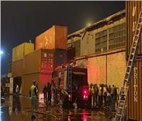 تحقيقات موسعة للوقوف على ملابسات حريق مخزن بميناء غرب بورسعيد