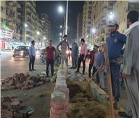 استكمال أعمال تطوير شارع السادات في الطالبية بالجيزة  صور