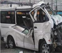 مصرع وإصابة 13 في حادث تصادم بالمنيا