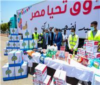 أهالي قريتي «أبو حزام» و«حمرة دوم» بنجع حمادي يشكرون الرئيس السيسي