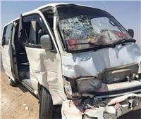 إصابة 11 شخصًا في تصادم سيارتين بطريق رأس غارب في الغردقة
