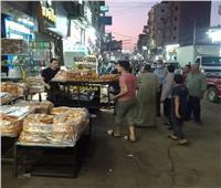 حملة ليلية لرفع الإشغالات بمدينة الباجور| صور