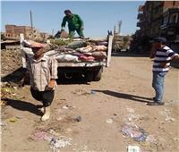 استمرار أعمال النظافة بمدينة الشهداء في المنوفية