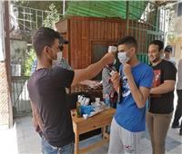 توزيع كمامات ومطهرات على طلاب الثانوية العامة قبل دخول اللجان| صور