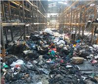 احتراق أكثر من 75% منمخزن شركة تداول الحاويات والبضائع في بورسعيد