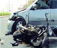 إصابة قائد دراجة نارية في حادث تصادم بالبدرشين