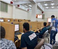 بدء اختبارات القبول بالجامعات الأهلية بجامعة حلوان