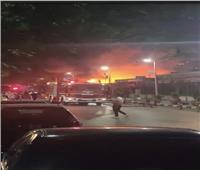 الدفع بـ7 سيارات إطفاء للسيطرة على حريق بأحد البواخر النيلية بالزمالك