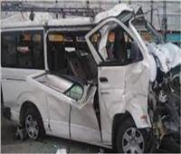 إصابة 17 شخصا في حادث تصادم ميكروباص وأتوبيس بالمنيا