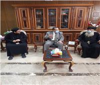 وفد كنائسي يقدم التهنئة لمحافظ شمال سيناء بمناسبة عيد الأضحى