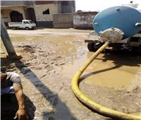 بعد انفجاره.. إصلاح خط المياه بمركز أشمون بالمنوفية| صور