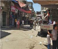 نائب محافظ القليوبية يقود حملة لتطهير شبرا الخيمة من الإشغالات