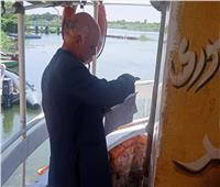 رئيس مدينة كفر شكر يتابع تراخيص المراكب النيلية قبل عيد الأضحي