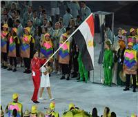 هداية ملاك وأبو القاسم يحملان علم مصر في افتتاح أولمبياد طوكيو