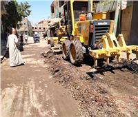 حملات نظافة وتمهيد للشوارع بالجيزة
