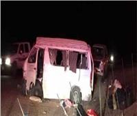 مصرع 4 أشخاص وإصابة 11 في حادث ميكروباص بـ«أطفيح»